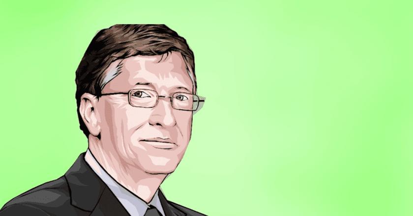 Bill Gates cartoon © Ravithakor23 / Wikimedia Commmons