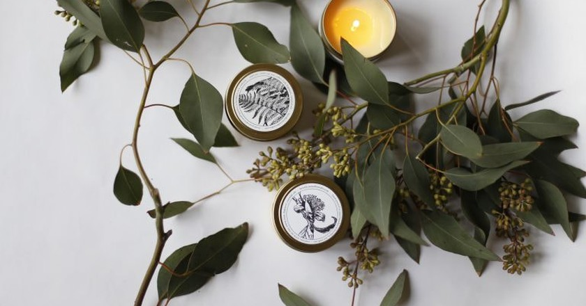 Candles are one of the local products on offer at Perfect Splash