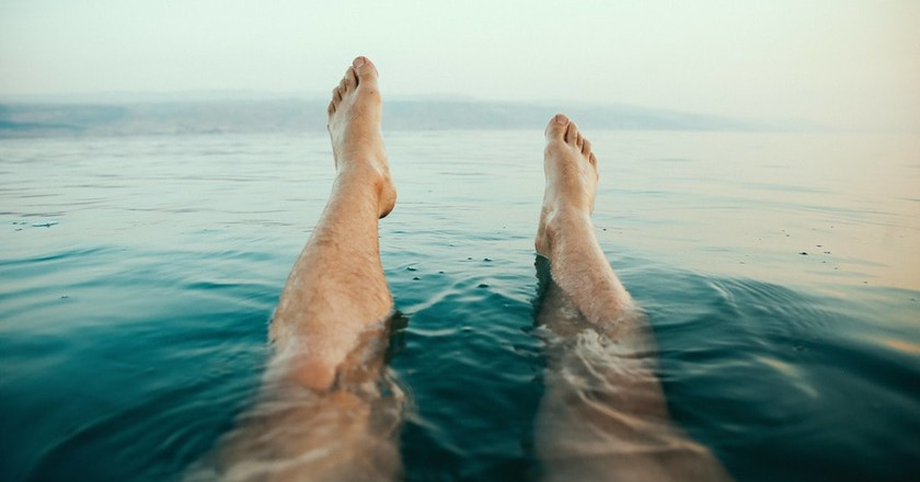 Floating in the Dead Sea | © Dewet Willemse/Unsplash
