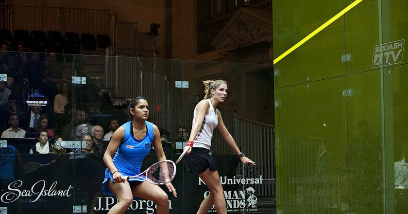 Chennai-born Squash Champion Dipika Pallikal playing at a tournament in New York | ©Julesgriff / WikiCommons