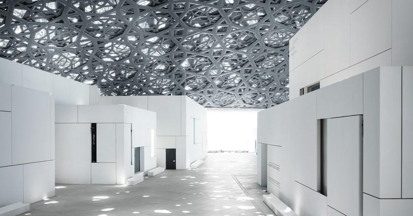 Louvre Abu Dhabi's ërain of lightí | © Louvre Abu Dhabi, Photography: Mohamed Somji