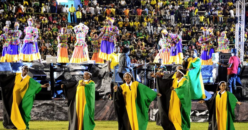 Some of the performers at last year's Grand Gala, held in the National Stadium |© Winston Sill