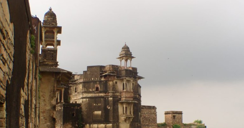 A part of the Gwalior Fort on the hill top | © Dan/Flickr