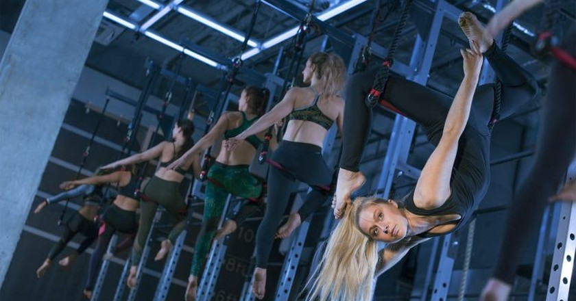 Trapeze Class at Gymbox | Courtesy of Gymbox