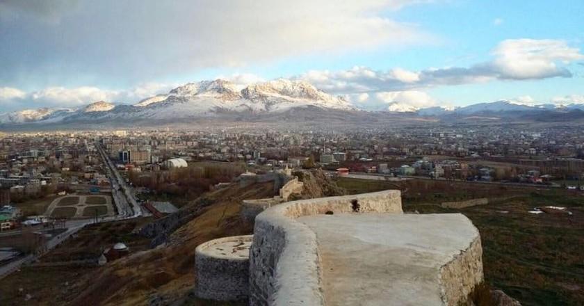 A view from Van, Turkey, on his 7,000-kilometer bike ride | Courtesy of Bilal Ghomraoui