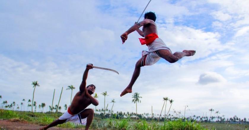 Kalaripayattu a form of Indian marital arts | © ginu plathottam / Pexels