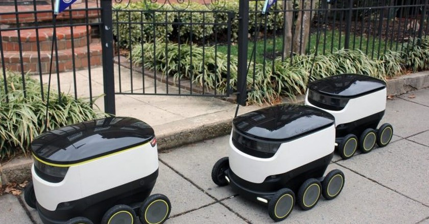 Starship delivery robots in action | Courtesy Starship