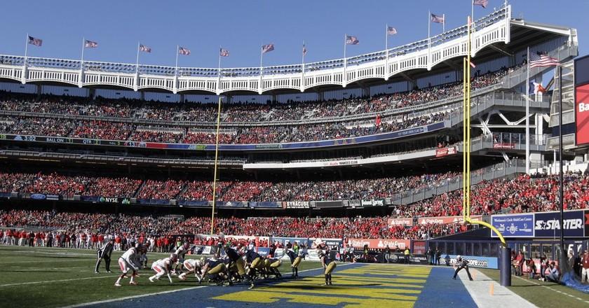 Notre Dame defeated Rutgers in the 2013 Pinstripe Bowl   © Frank Franklin II/AP/REX/Shutterstock