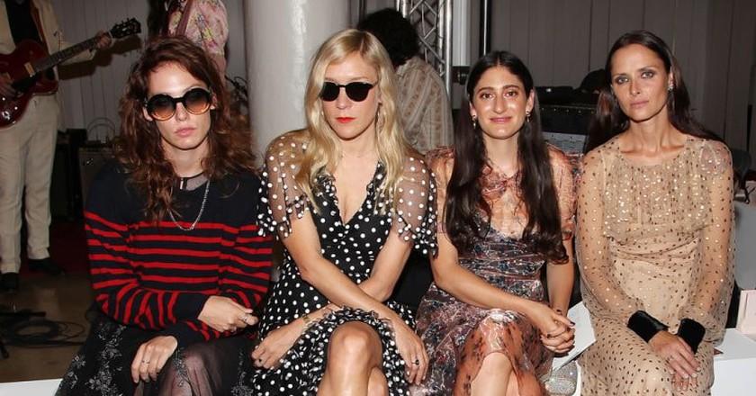 From left to right, Cory Kennedy, Chloë Sevigny, Arden Wohl, and Tasha Tilberg at New York Fashion Week 2017   © Kristina Bumphrey/StarPix/REX/Shutterstock