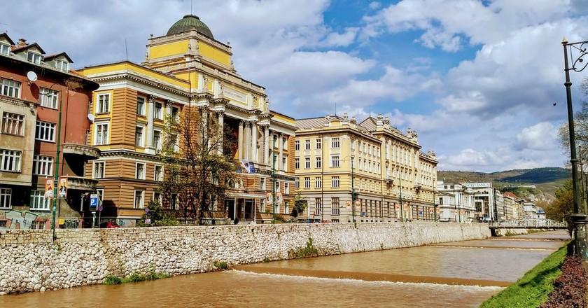 Buildings by Miljacka River   © Sam Bedford