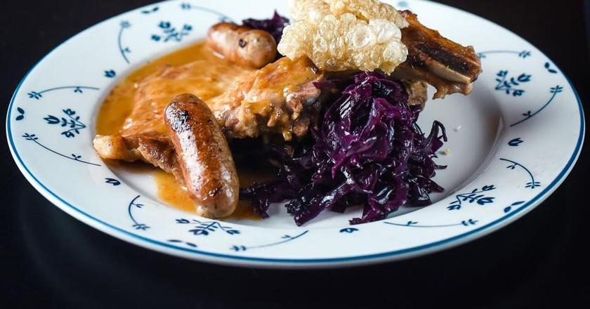 Sausage dish at Huset | Courtesy of Huset