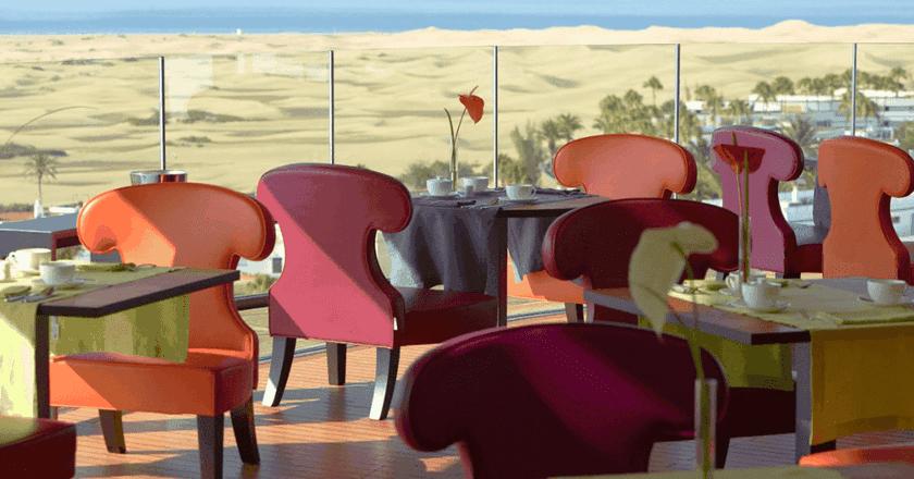 View of Maspalomas Dunes courtesy of Bohemia Suites & Spa