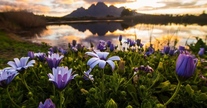 Sunset in Franschhoek   Courtesy of South African Tourism