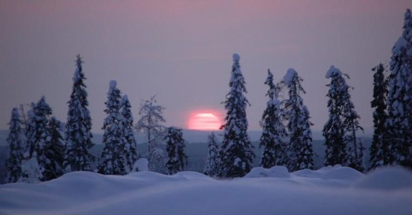View of the sunset in Finland | © Teemu Vehkaoja / WikiCommons