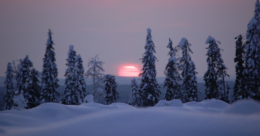 View of the sunset in Finland | © Teemu Vehkaoja / WikiCommons