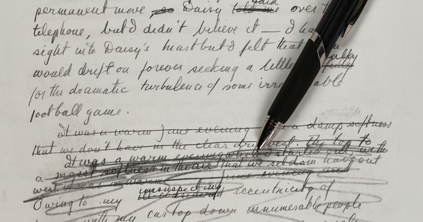 Handwritten Great Gatsby Manuscript Unveils Surprising Revisions