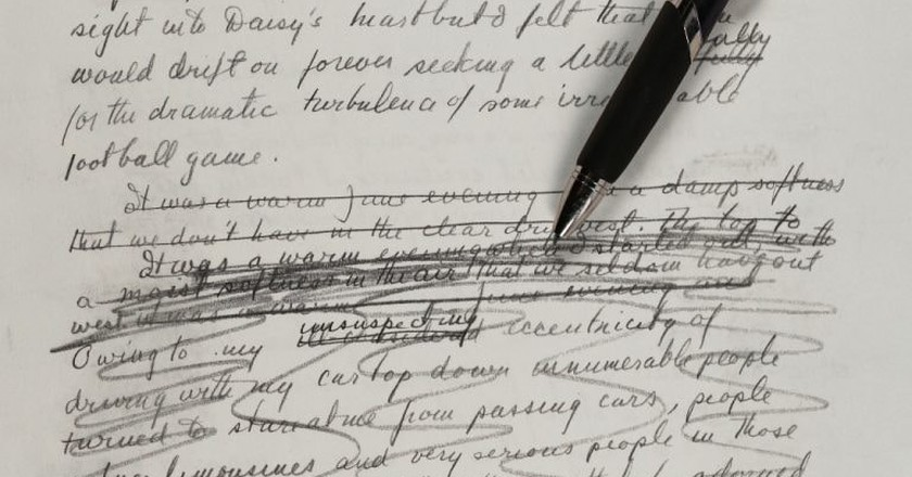 Handwritten Great Gatsby Manuscript Unveils Surprising Revisions