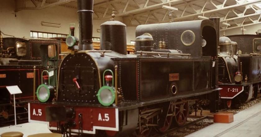 Metric gauge Couillet 0-6-0 steam locomotive A5 Messolongi of the Northwestern Greece Railways (1888). Preserved in Athens Railway Museum | © Copyright © 1988-2009 K. Krallis SV1XV/WikiCommons