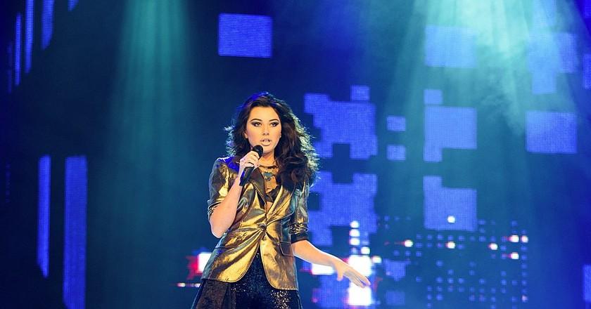 Safura Alizadeh performing in the Eurovision 2012 | © Vugarİbadov/WikiCommons
