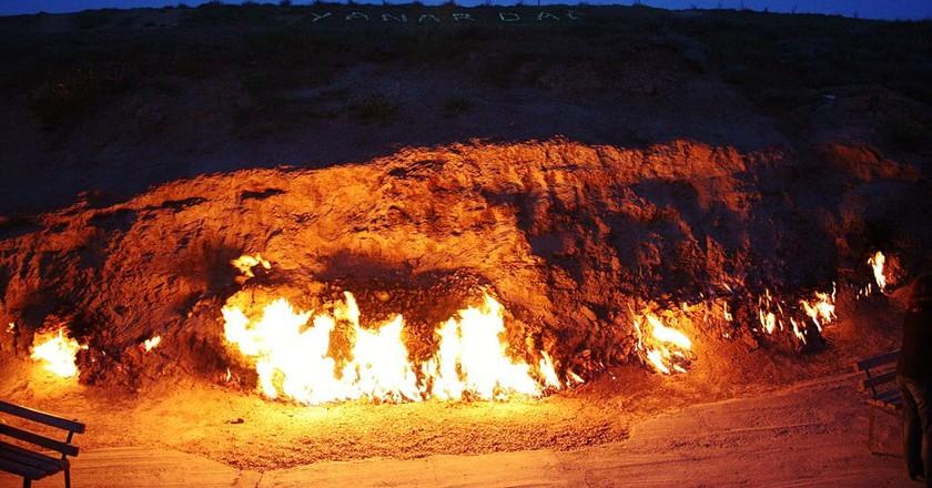 Yanar Dag's endless flames | © Frokor/WikiCommons