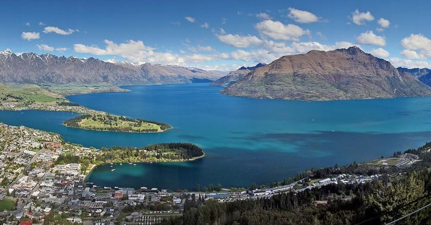 View of Queenstown and Lake Wakatipu | © Bernard Spragg/Flickr