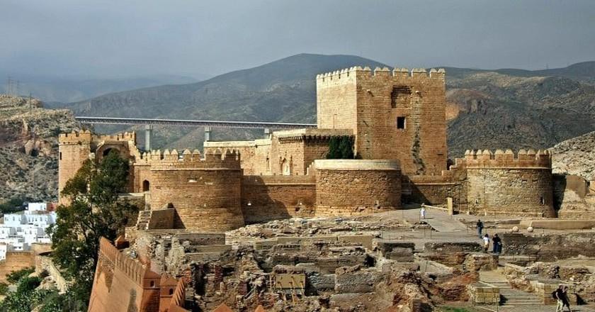 The defensive towers of Almeria's 10th century Moorish fort | © giborn_134/flickr