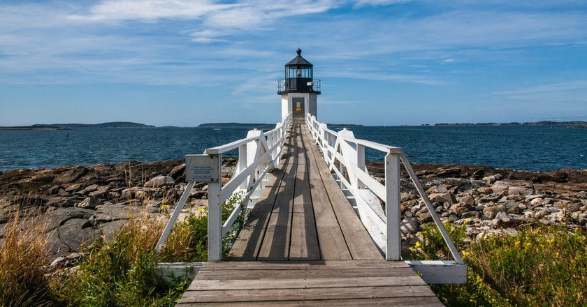 Port Clyde Lighthouse in Maine featured in Forrest Gump | © Paul VanDerWerf/Flickr