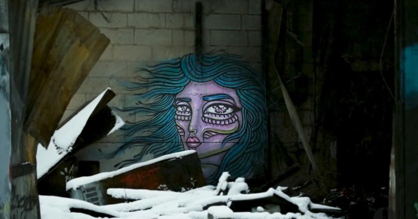 A stunning mural by Amara Por Dios at Snosatra   © Danne Qvarfordt/Flickr