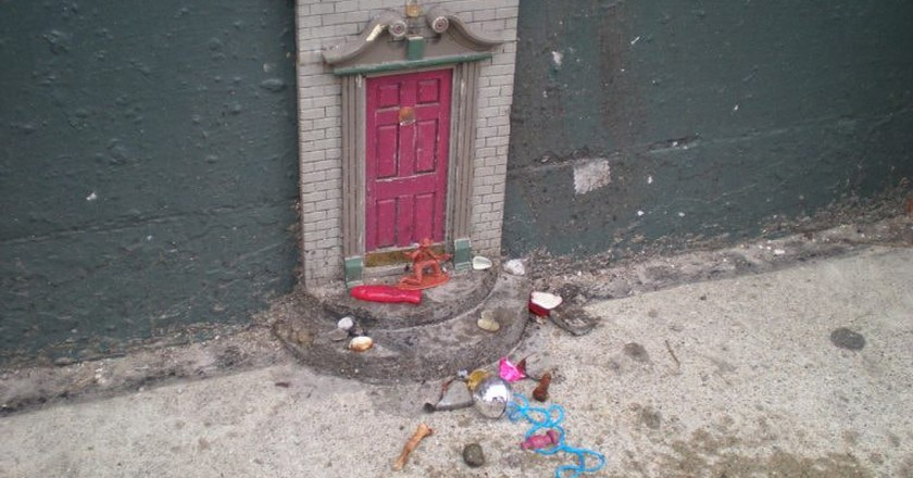 The fairy door at the Selo Shevel Gallery