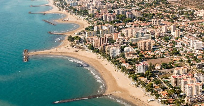 The beaches of Benicassim, Spain
