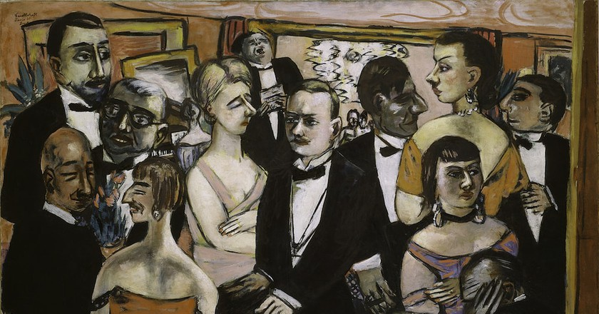 Max Beckmann, Paris Society, 1931. The Solomon R. Guggenheim Museum, New York. Photo credit: The Solomon R. Guggenheim Foundation/Art Resource, NY © 2017 Artists Rights Society (ARS), New York / VG Bild-Kunst, Bonn.