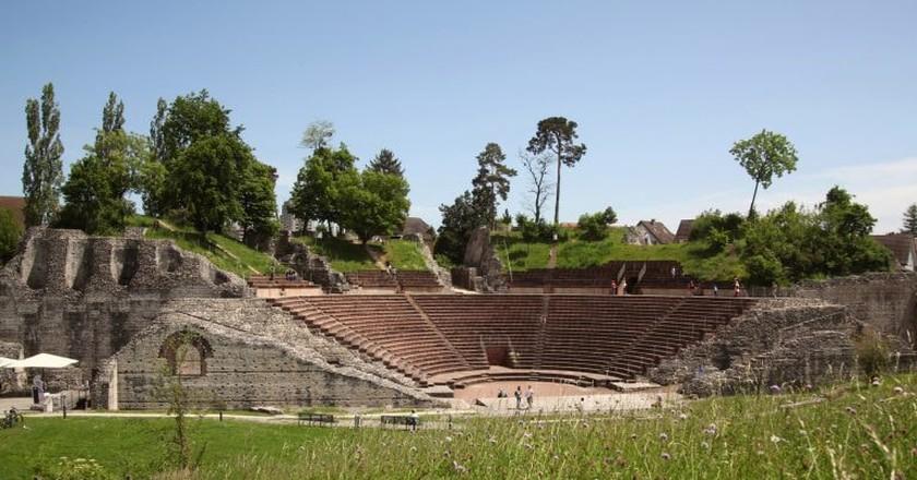 The Roman amphitheatre at Augusta Raurica | © Susanne Schenker / Augusta Raurica