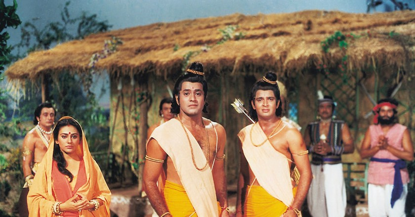 A scene from Ramayan, one of the earliest and most-popular Indian TV series