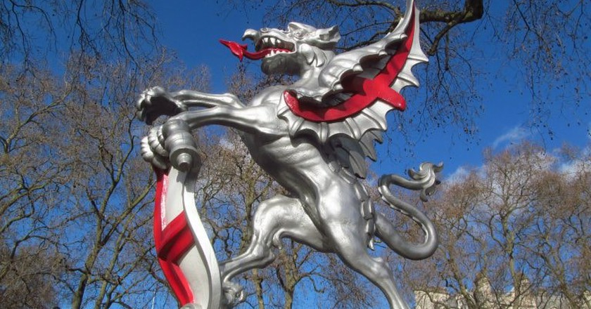 Dragon marking the boundary of the City of London