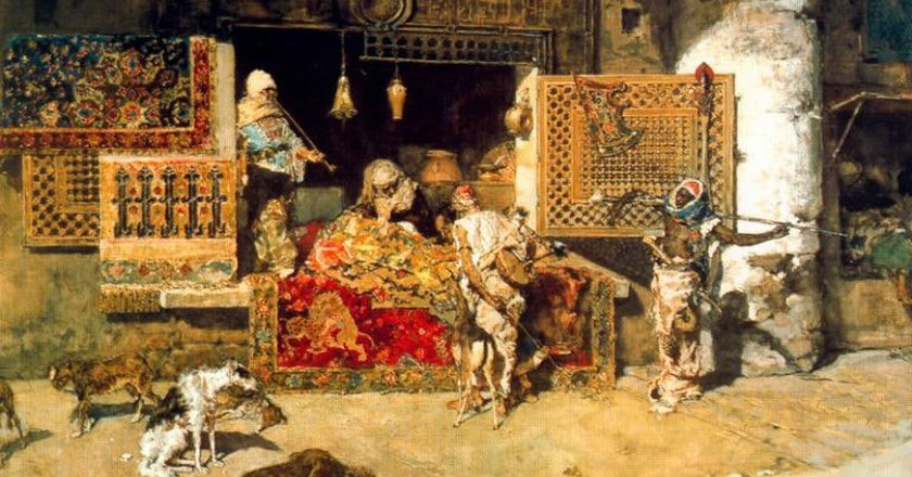 The Tapestry Seller by Fortuny | © WikiCommons