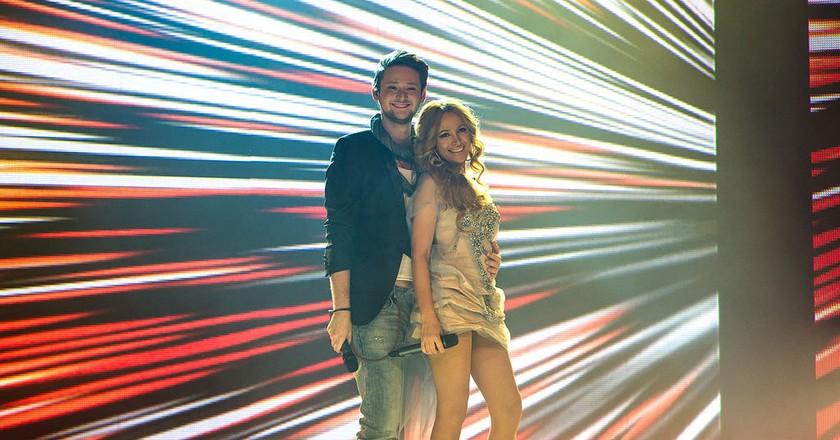 Ell & Nikki during the 2012 Eurovision Semi-Final | © Vugarİbadov/WikiCommons