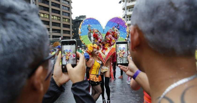 Float at the Mardi Gras parade   © Courtesy of Ann-Marie Calilhanna/Sydney Gay and Lesbian Mardi Gras