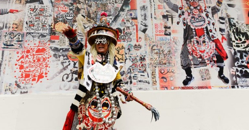 Kwok Mang Ho, otherwise known as 'Frog King' is an eccentric performance artist from Hong Kong | © Courtesy of 10 Chancery Lane Gallery, Hong Kong.