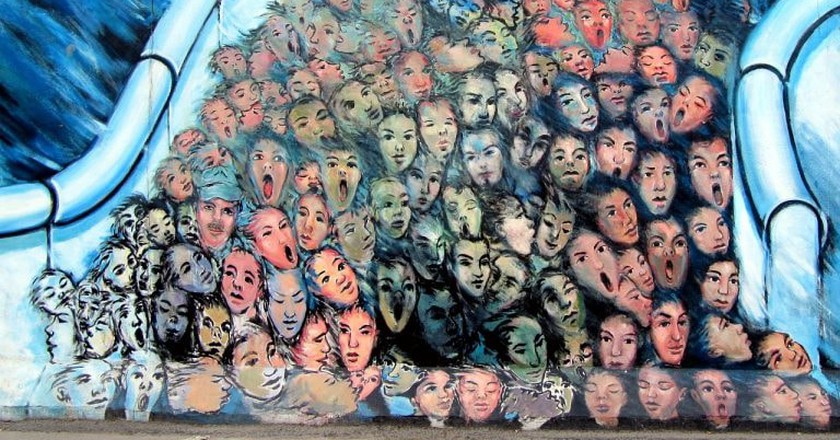 It's Happened in November Iconic Mural on the Berlin wall