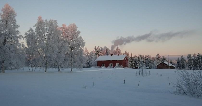 Finnish wooden house | © annamaril/Pixabay