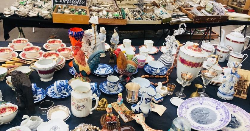 Search For Vintage Treasures at Paris' Puces de Vanves Flea Market