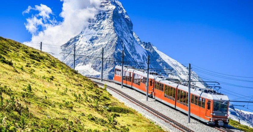 The 9km mountain railway travels from Zermatt (1604m) to Gornergrat (3089m) and passes the Matterhorn | © cge2010/Shutterstock