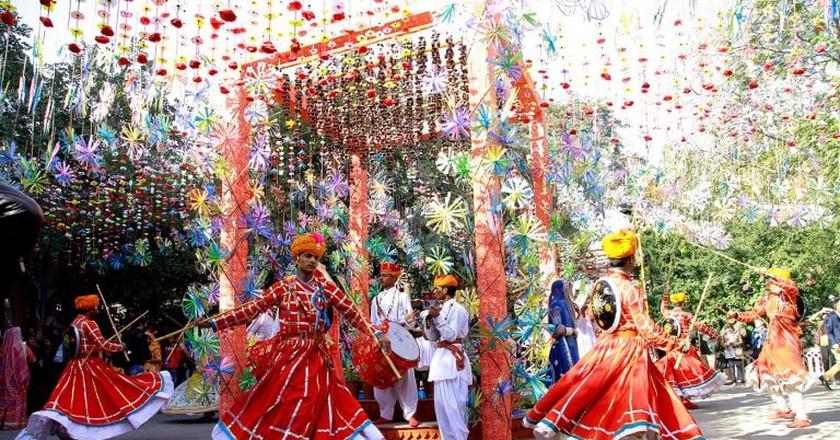 Opening ceremony at Jaipur Literature Festival | Courtesy of Jaipur Literature Festival