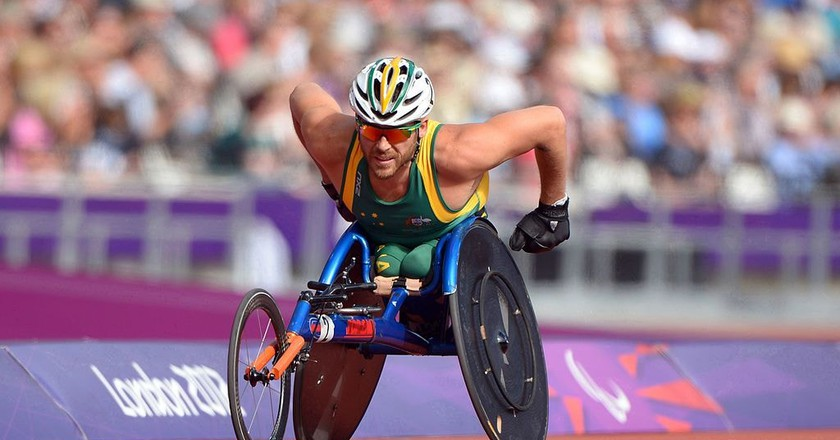 Kurt Fearnley at the London 2012 Olympics | © Australian Paralympic Committee/Wikimedia Commons