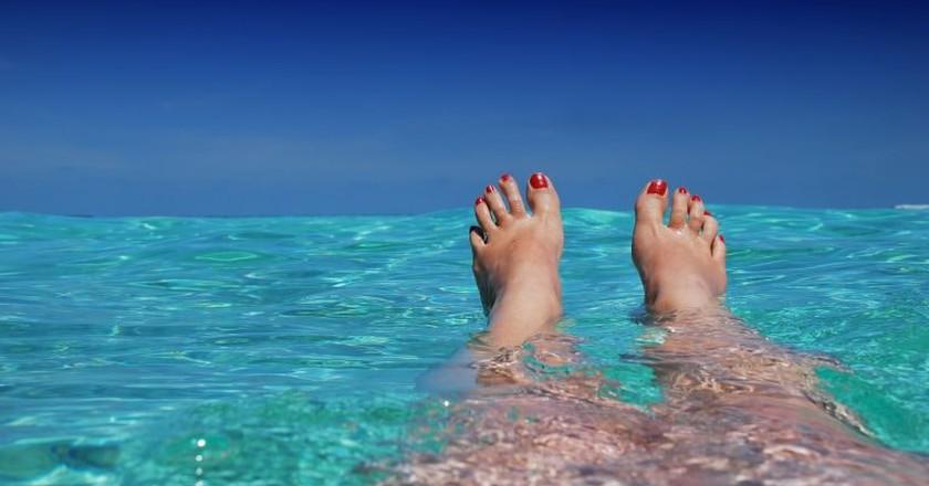 Swimmer in paradise | © romaneau / Pixabay