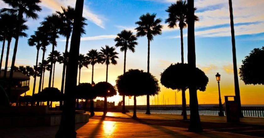Marbella's seafront promenade at sunrise   © Steve-h/Commons Wikimedia