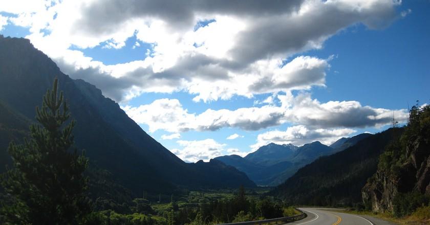 The road to El Bolson, Argentina