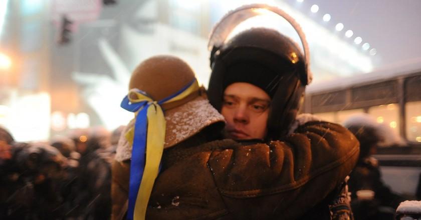 Euromaidan participants | © Mstyslav Chernov/WikiCommons