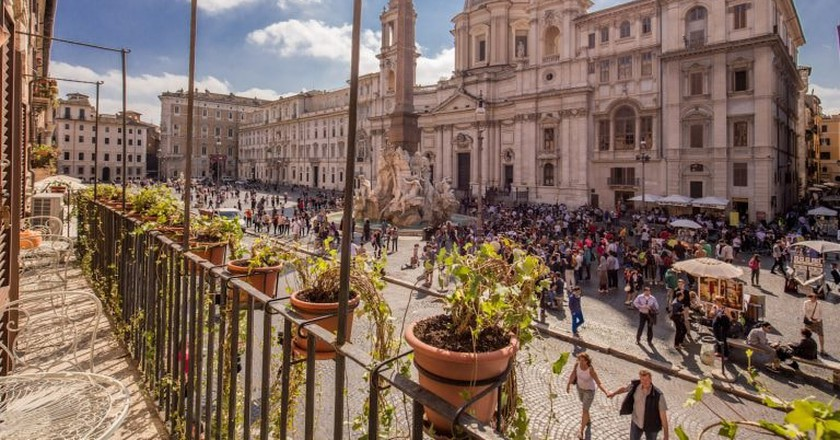 An apartment with a view overlooking Piazza Navona   © Courtesy of owners