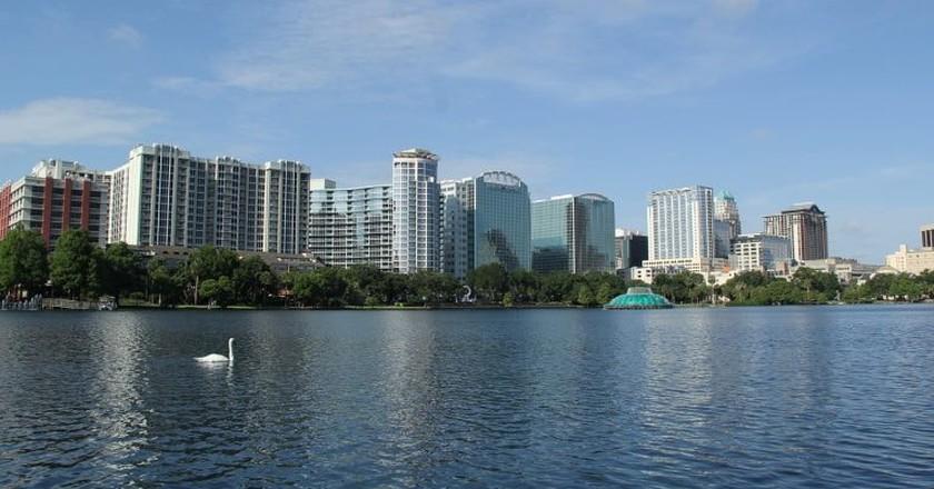 Downtown Orlando, Florida, skyline.